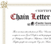 A certificate to dispell chain letters...forever.